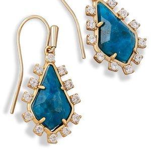 Kendra Scott Juniper Aqua Apatite Earrings {NWT